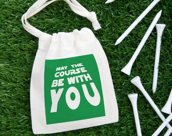 May the course be with you golf tee bag - star wars - star wars gift - golf gifts - golf gifts for men - fathers day golf - fathers day gift