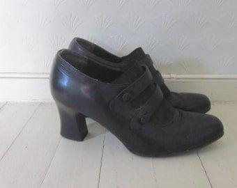 Vintage 80s granny shoes