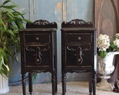 15% OFF Gorgeous PAINTED NIGHTSTANDS We Find Antique Nightstands And Refinish For You Custom Shabby Chic Furniture Black Any Color