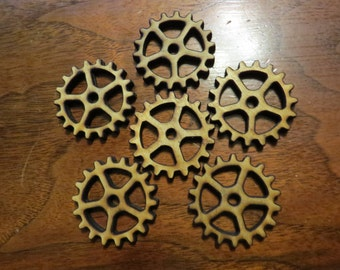Steampunk Gears Wooden 3/16 thickness