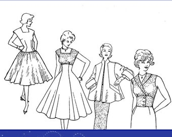PATTERN DRAFTING and GRADING 1960s Patterns Book Design Stunning Outfits 157pg Printable or Read on Your Tablet Top Reviews Instant Download