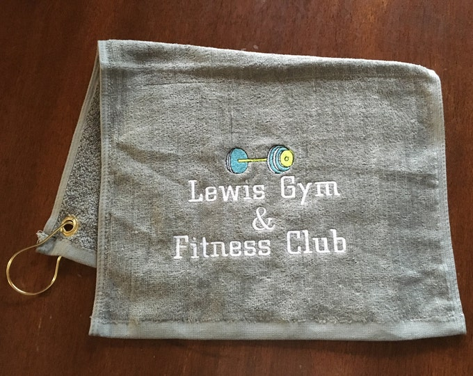 Custom Gym towel, Personalized, workout towel, sweat towel, exercise towel, sport towel, exercise gift, monogram, name or any saying