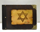 Star of David, Jewish art, Hanukkah gift, Jewish star, Hebrew art, Jewish religion, unique album, vintage scrap book, photography album