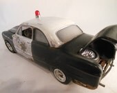 Classicwrecks, Mayberry Police, Scale Model Car, Rusted Wreck, Black and White,PoliceCar,TVCar