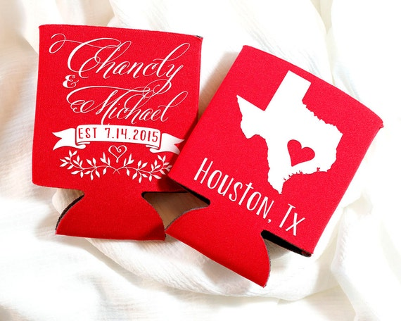 Penn State Wedding Gifts: Personalized State Wedding Gifts Texas State Can Coolers