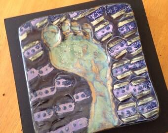 Foot Noir - Framed Ceramic Tile
