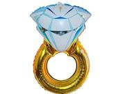 "Engagement Ring Balloon Large 32"" Mylar Balloon Wedding Bridal Diamond Ring ""Put a Ring on it"""