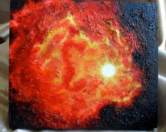 Abstract Lava Solar Painting