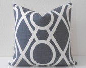 Gray bamboo trellis decorative pillow cover