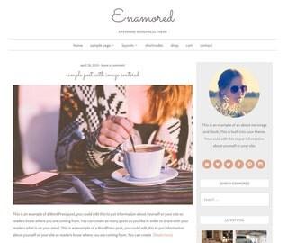 Enamored: Feminine WordPress Theme Built for Beginner and Intermediate Bloggers