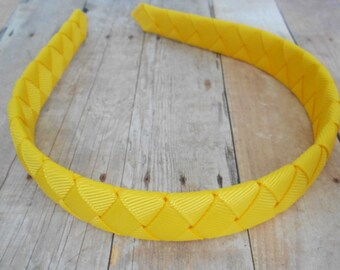 Yellow Woven Headband Girls Headband Summer headband