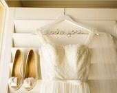 Personalized Bridal Hanger, Engagement Gift, Hanger for Bride, White Hanger, Wedding Dress Hanger, Bridesmaids Hangers, Coat Hanger