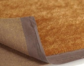 4mm Rust with Dark Backing 420S Short German Mohair 1/8 to 1/4 Yard