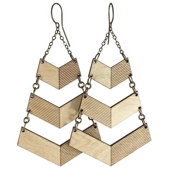 DISHY   chevron earrings
