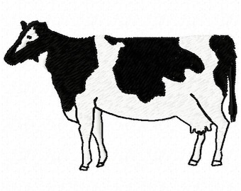 Cow Machine Embroidery Design - Instant Download