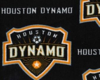 MLS Houston Dynamo Fleece Fabric by the yard