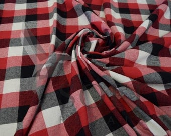 Cotton Flannel Plaid 19 Tartan Fabric by the Yard