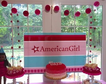American Girl Inspired Star GARLAND Star Party Banner