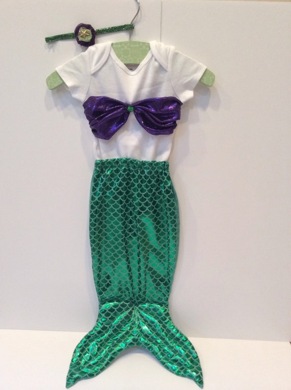 Baby Infant Mermaid Costume Little Girls Tail Handmade