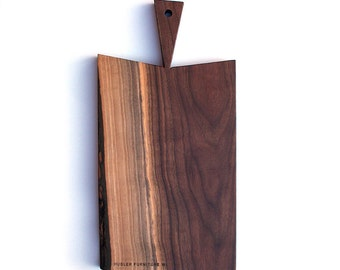 Serving Platter \ Cutting Board \ Walnut \ One-of-a-kind \ Wood \ Salvaged \ Wisconsin