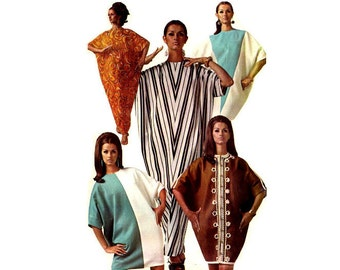 Vintage Mod 1960s Sewing Pattern McCalls 9026 Batwing Abba in Two Lengths and Styles One Size