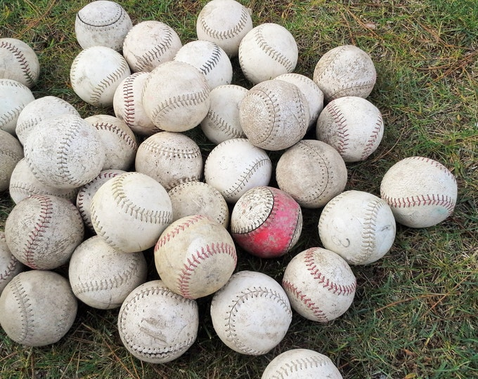 Vintage Softballs - Set of 5