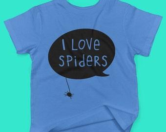 I love spiders childrens' organic cotton t shirt