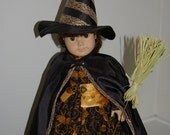 ON SALE/Witch costume for 18 inch doll