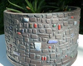 Midcentury Modern Inspired Ceramic Planter