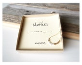 Handmade Morse Code Necklace,Delicate Morse Code, Mothers Day Jewelry, Mothers Day, Minimal Necklace, 24K Gold Necklace, Handemade Necklace