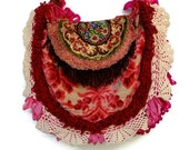 Victorian Bag Purse Handbag Antique Velvet Fringe