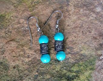 Turquoise Drop Earrings Dangle