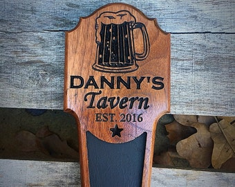 Personalized Beer Tap Handle, Kegerator Handle, Christmas Gift for him, Man cave gift, Custom Bar accessories