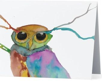 "Dream Owl Greeting Card - 5.5"" x 4"""