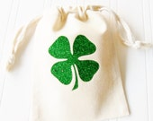 St. Patrick's Day Gift, Gift Bag Hair Ties Lucky Clover
