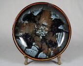 Vintage Richard Rohleder Studio Pottery Bowl with Amazing Glaze, Minnesota local
