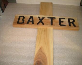 Cedar Wood Memorial Cross - small size