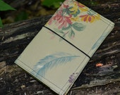 Traveler's Notebook - Vintage floral - planner cover - notebook planner - police call box - travel gear - vegan planner- field notes