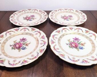 Schumann Bavaria DRESDEN Fine Bone China - Set of 4 Dinner Plates