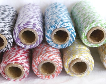 THICK Bakers TWINE-12 ply Choose Color-20yds--Packaging, Gifts,Weddings, Party Favor Embellishments