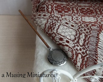 Colonial Bed Warmer with Coals in 1:12 Scale for Dollhouse Miniature Chilly Winter Roombox