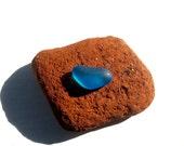 Turquoise Pendant Beach Sea Glass Heart JQT-F5
