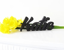 Handmade Wooden Baby Name Sign, Katie, Nursery Decor Sign, Toddler Personalized Gift , Baby Room, Newborn Gift, Marie