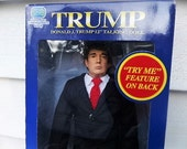 """Donald J. TRUMP - Talking DOLL - 12"""" - """"The Apprentice"""" Collectible - Party SUPPLIES - Republican Presidential Candidate - Election Party"""