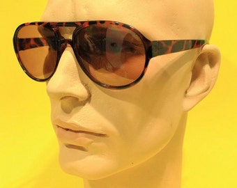 Vintage 80s Mens Sunglasses Aviator Hipster Retro Indie Deadstock Accessories Fashion