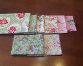 Destash Quilting Fabric 1/2 Yard Cuts Pink and Green