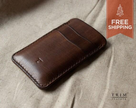 iPhone 4 4S iPod Leather Sleeve [FREE SHIPPING] [Handmade] [Custom Colors]