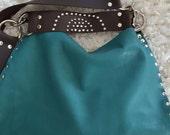 Custom Listing for Sherry- Teal Shoulder Bag w/ Wrist Strap