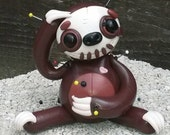 Stu the superfast. Sloth Voodoo Doll. Hand Sculpted Polymer Clay Figurine