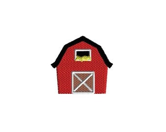Barn Filled Stitch Machine Embroidery Design-INSTANT DOWNLOAD